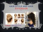 hair style and hair extension