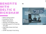 benefits with deltic e rickshaw