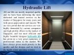 hydraulic lift 1