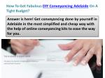 how to get fabulous diy conveyancing adelaide