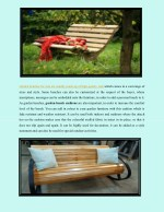 garden benches for sale are usually made
