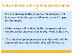 why should you go for crane hire