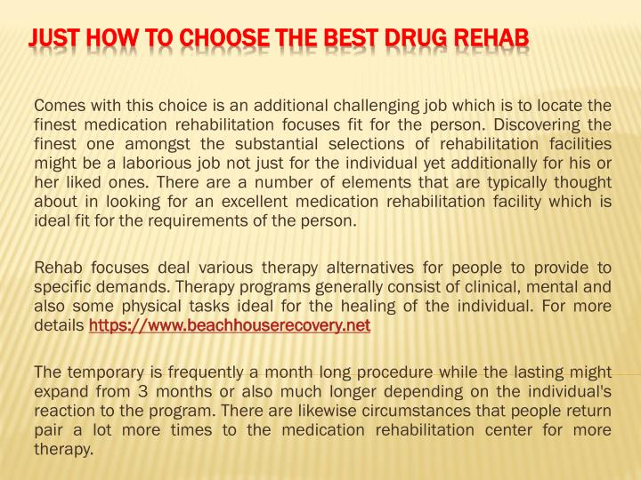 just how to choose the best drug rehab n.
