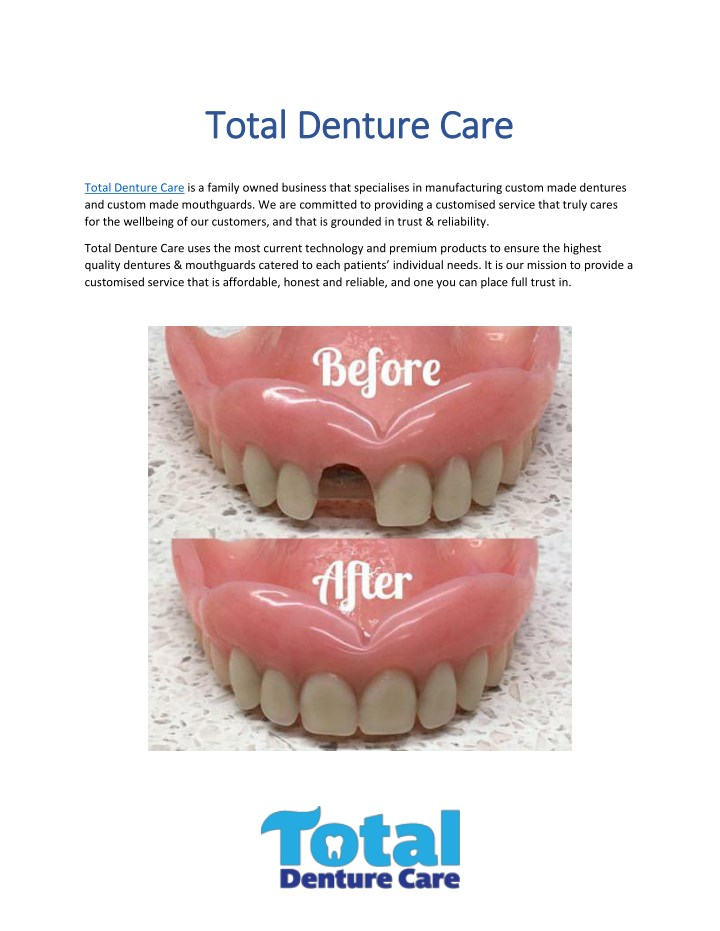 total denture car total denture care e n.