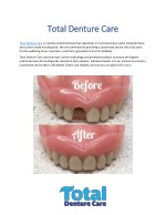 total denture car total denture care e