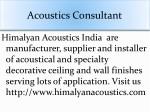 acoustics consultant 1
