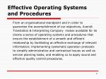 e ffective operating systems and procedures