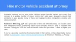 hire motor vehicle accident attorney