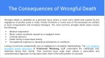 the consequences of wrongful death