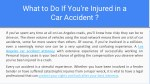 what to do if you re injured in a car accident