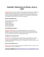 hydrabelle vitality serum for women scam or legit