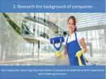 2 research the background o f companies