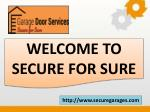 welcome to secure for sure