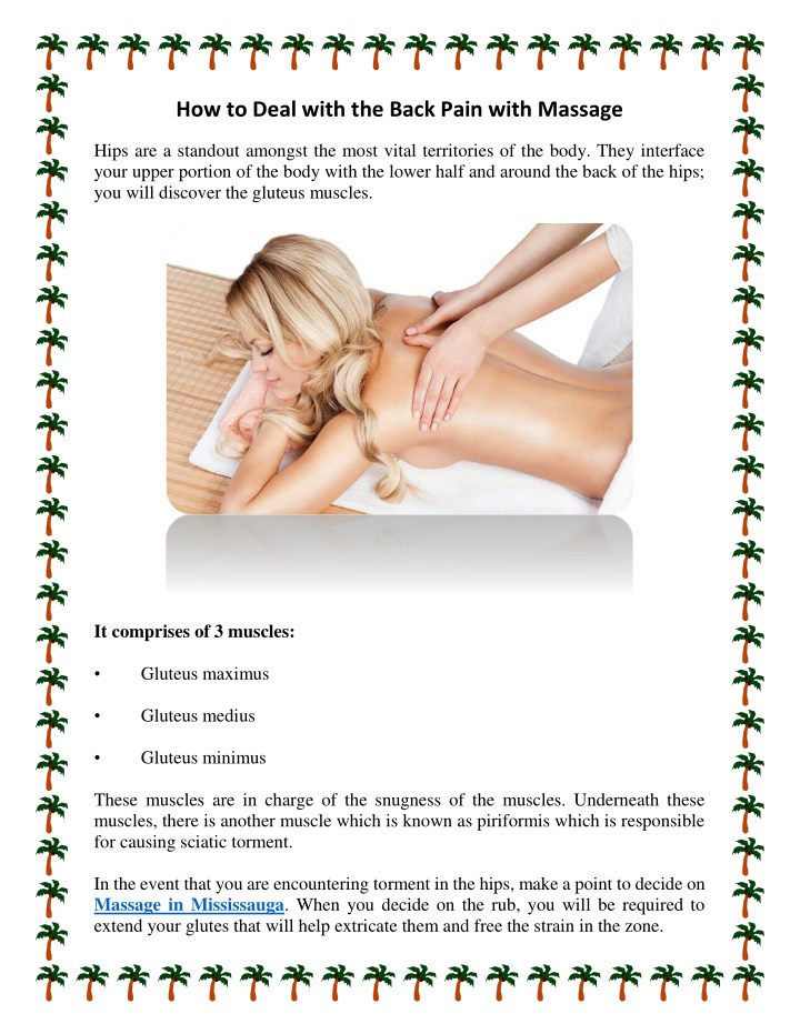 how to deal with the back pain with massage n.
