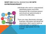 what can digital marketing do with entrepreneurship