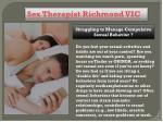 sex therapist richmond vic