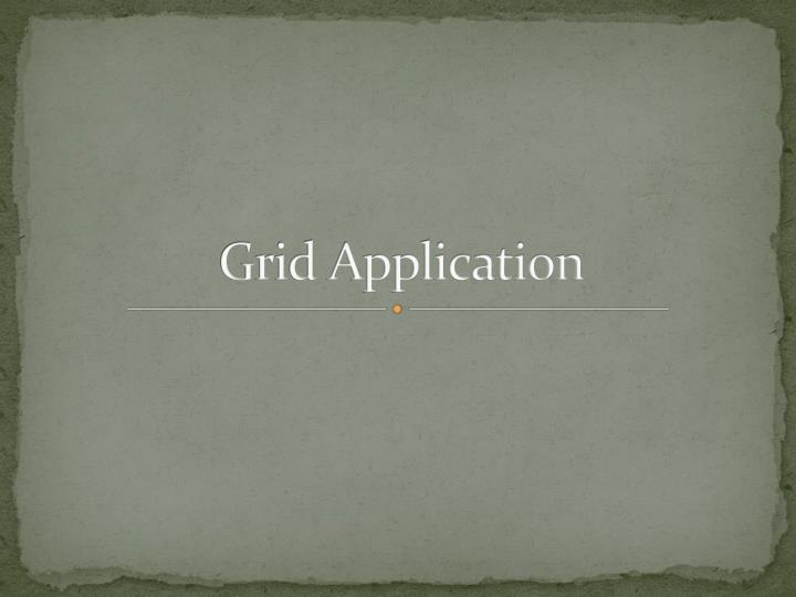 grid application n.
