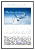 the airline reservation system of today