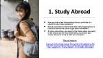 1 study abroad