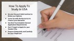 how to apply to study in usa