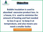 bubble insulation is used to absorbed excessive