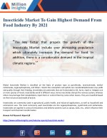 insecticide market to gain highest demand from