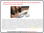 pesofts online examination software a technological way to enhance examination approach