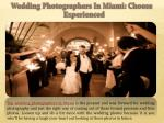 wedding photographers in miami choose experienced