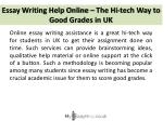 essay writing help online the hi tech way to good grades in uk