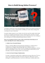 how to build strong online presence