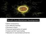 benefit from blockchain development