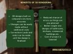 benefits of 3d rendering