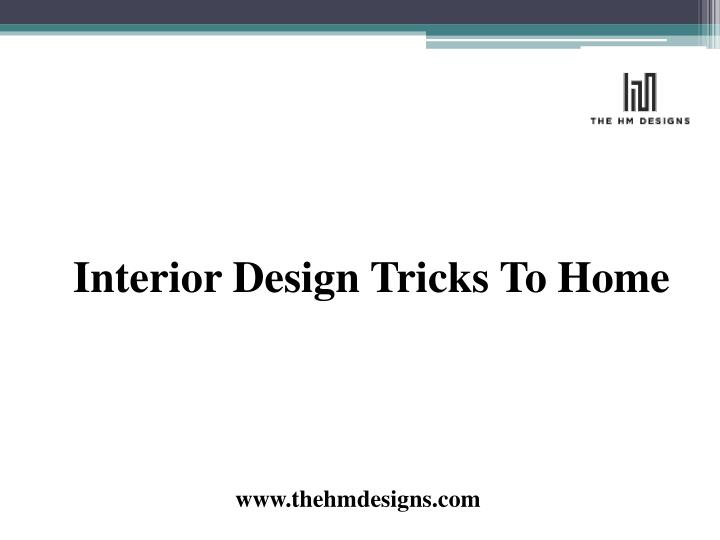 interior design tricks to home n.