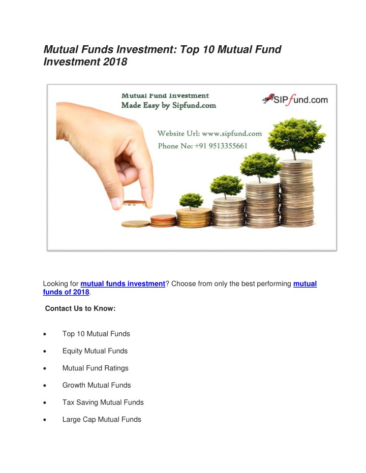 mutual funds investment top 10 mutual fund n.