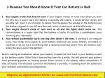3 reasons you should know if your car battery