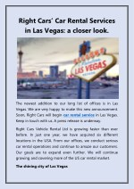 right cars car rental s ervices in las vegas
