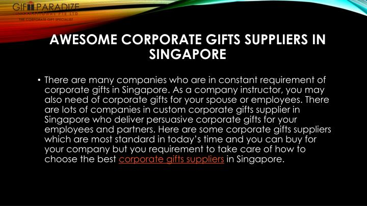 awesome corporate gifts suppliers in singapore n.