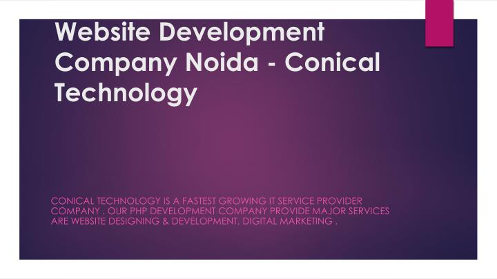 website development company noida conical technology n.