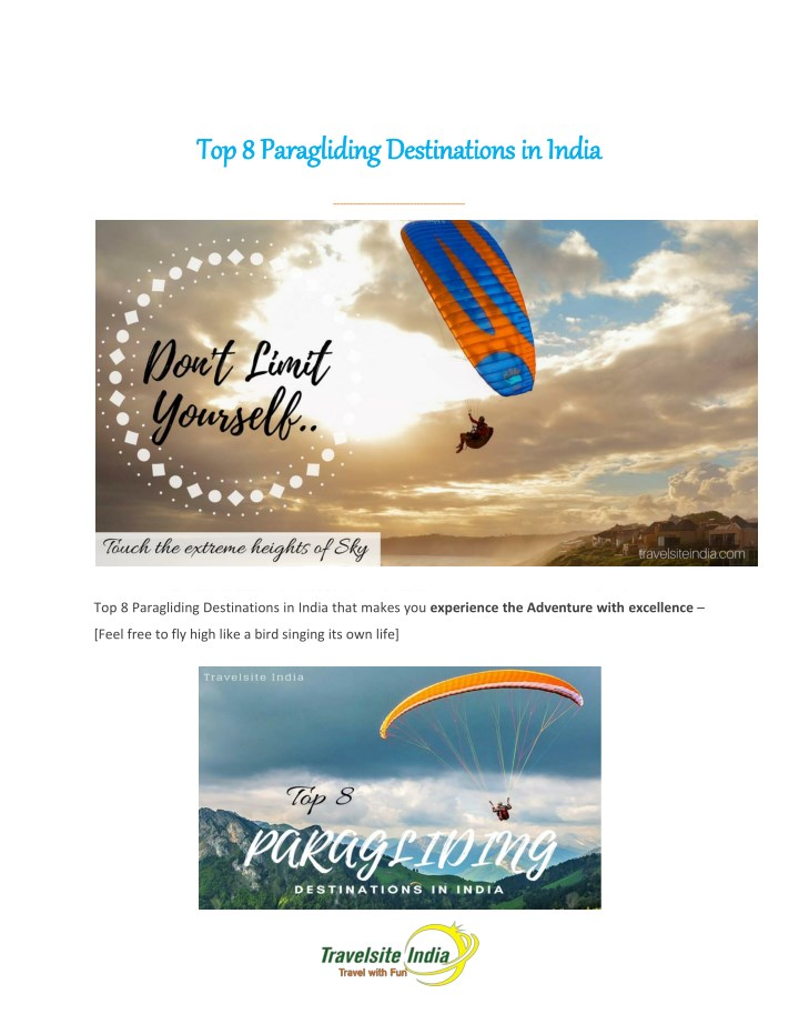 top 8 paragliding destinations in india n.