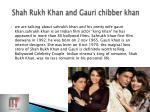 shah rukh khan and gauri chibber khan