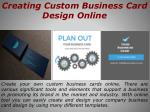 creating custom business card design online