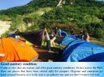 good sanitary condition camp at sites that