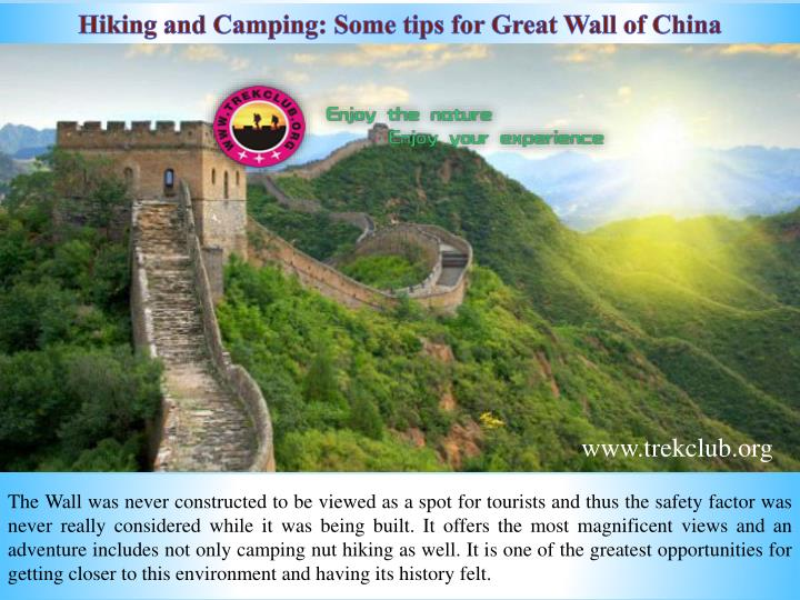 hiking and camping some tips for great wall n.
