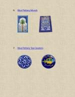 6 blue pottery murals