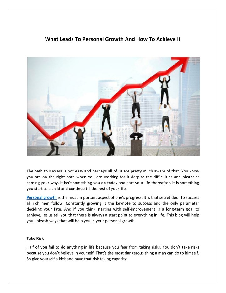 what leads to personal growth and how to achieve n.