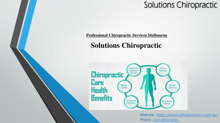 professional chiropractic services melbourne n.