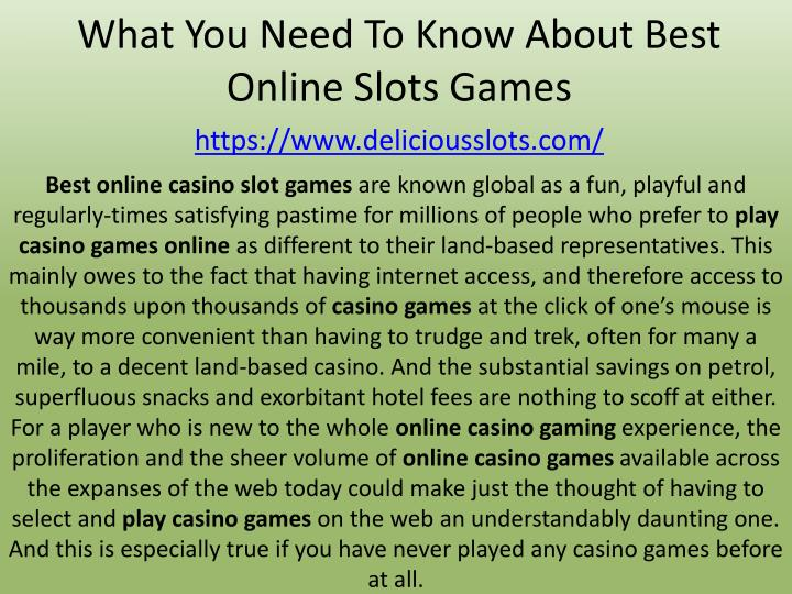 what you need to know about best online slots games https www deliciousslots com n.