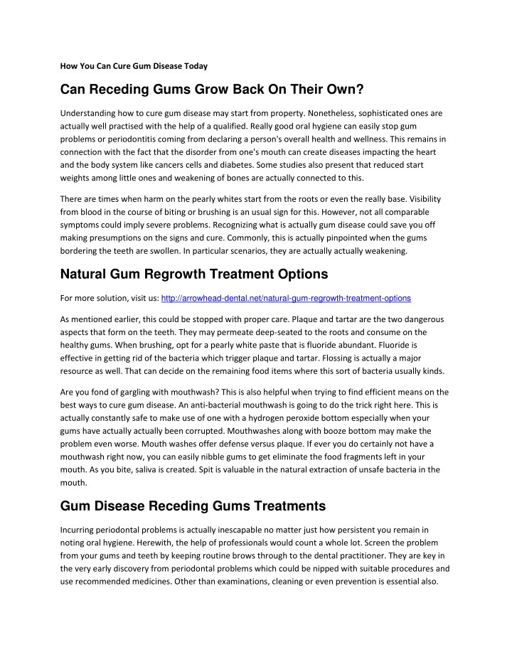 how you can cure gum disease today n.