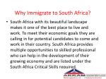 why immigrate to south africa