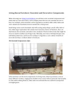 living room furniture essential and decorative